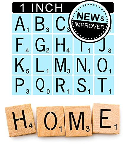 Amazon.com: Scrabble Style Letter Stencils for Painting Signs