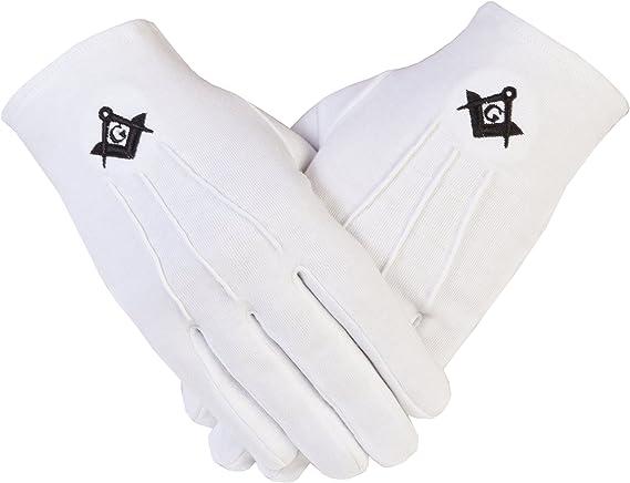 Gloves4masons PCI de la Logia de símbolo masónico con guantes de algodón en color negro SC y G: Amazon.es: Ropa y accesorios