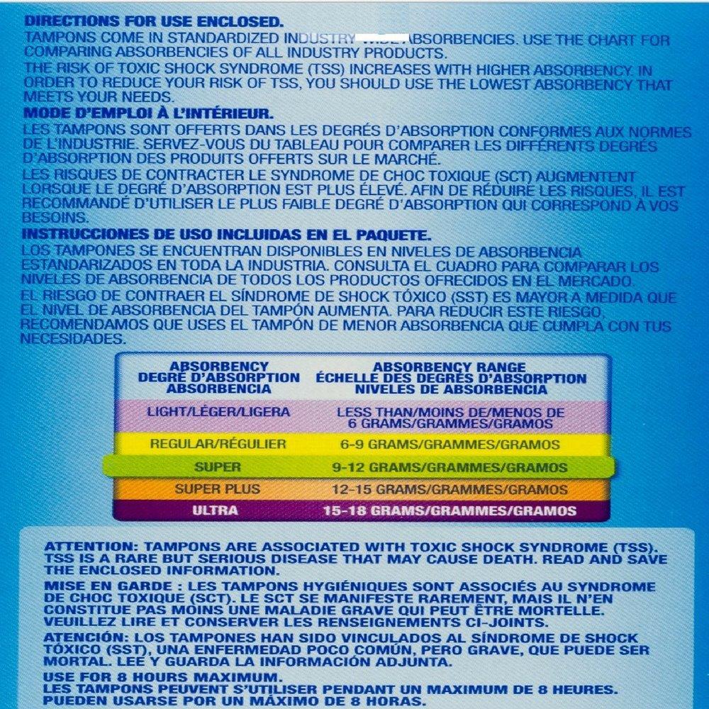 Tampax Cardboard Applicator Tampons, Super Absorbency 40 ea (Pack of 4) by Tampax