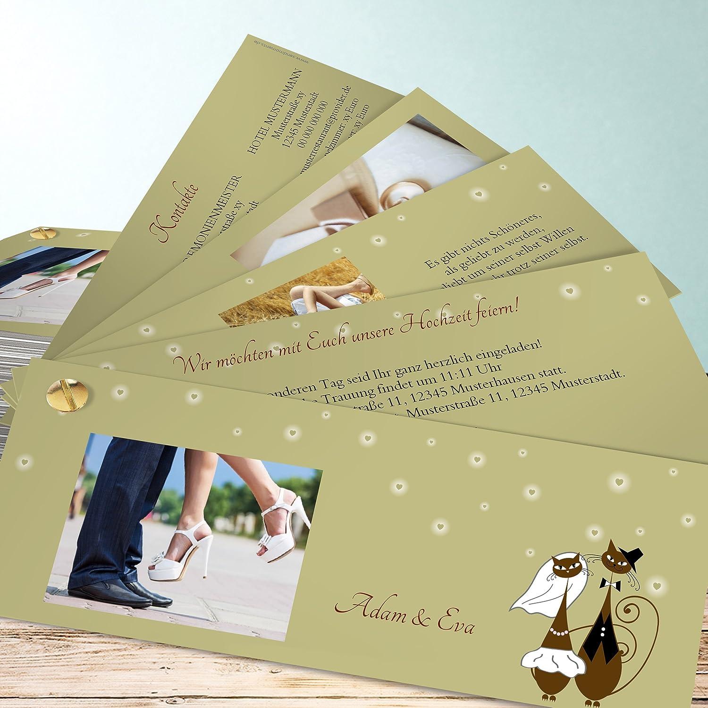 Einladung Hochzeit Schnurr Mit Mir 35 Karten Kartenfacher 210x80