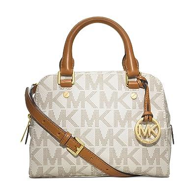 7b2234f006a8 ... handbag crossbody vanilla mk gold 012b9 67dfb  discount code for michael  michael kors jet set small travel satchel in signature vanilla c47fd e011a