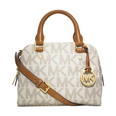 bf6e77474018 ... discount code for michael michael kors jet set small travel satchel in  signature vanilla c47fd e011a