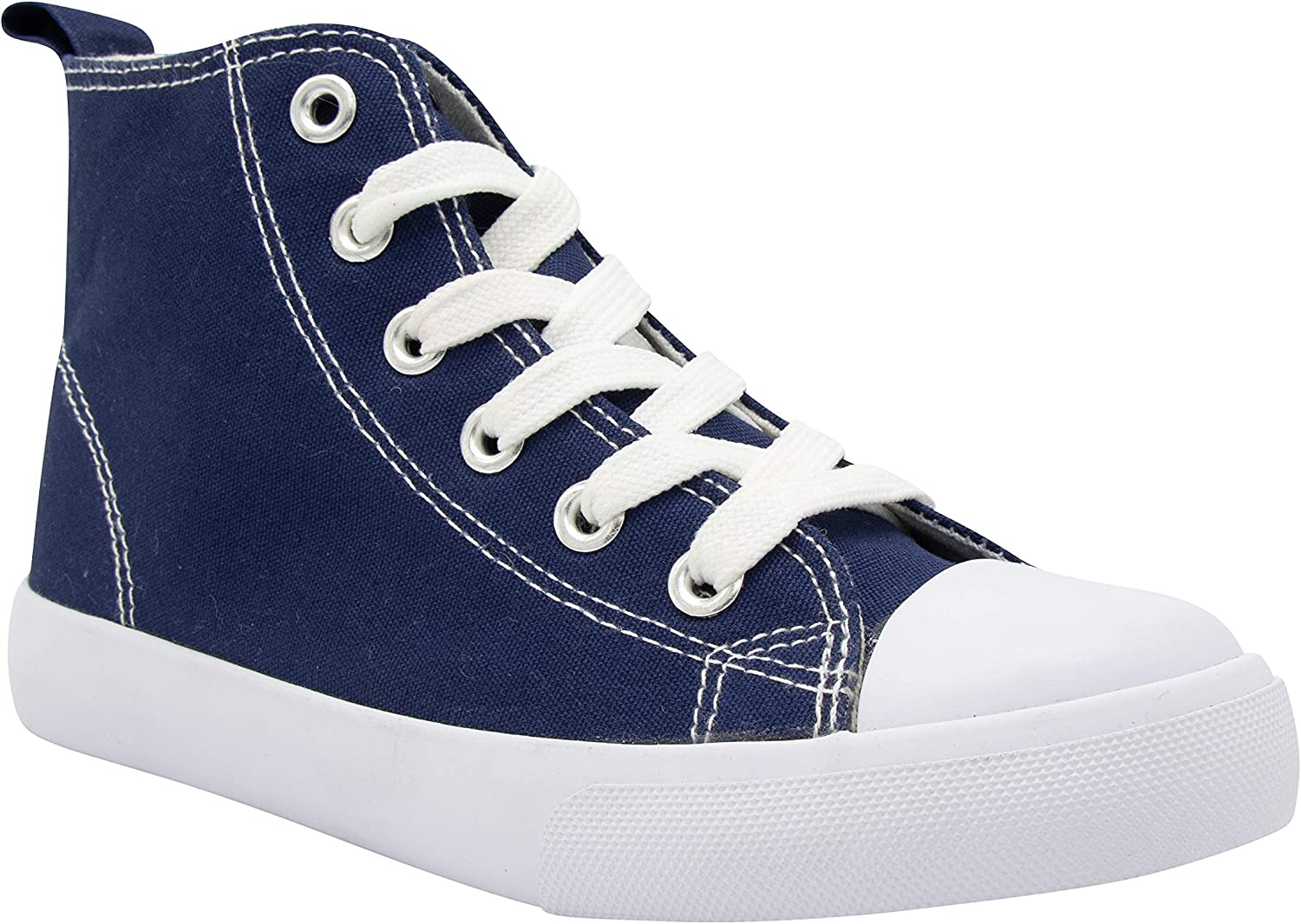 ZOOGS Fashion High-Top Canvas Sneakers