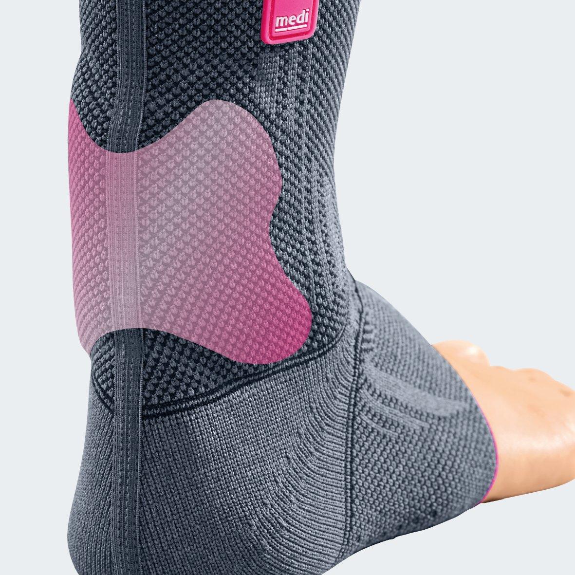 Medi Achimed Knit Ankle Support for Men & Women (Silver) Size I by Medi Ortho (Image #2)
