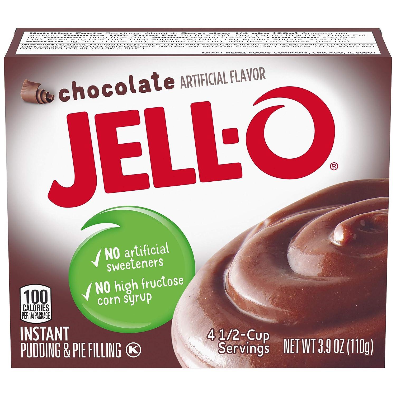JELL-O Chocolate Instant Gelatin Dessert Mix (3.9 oz Box)
