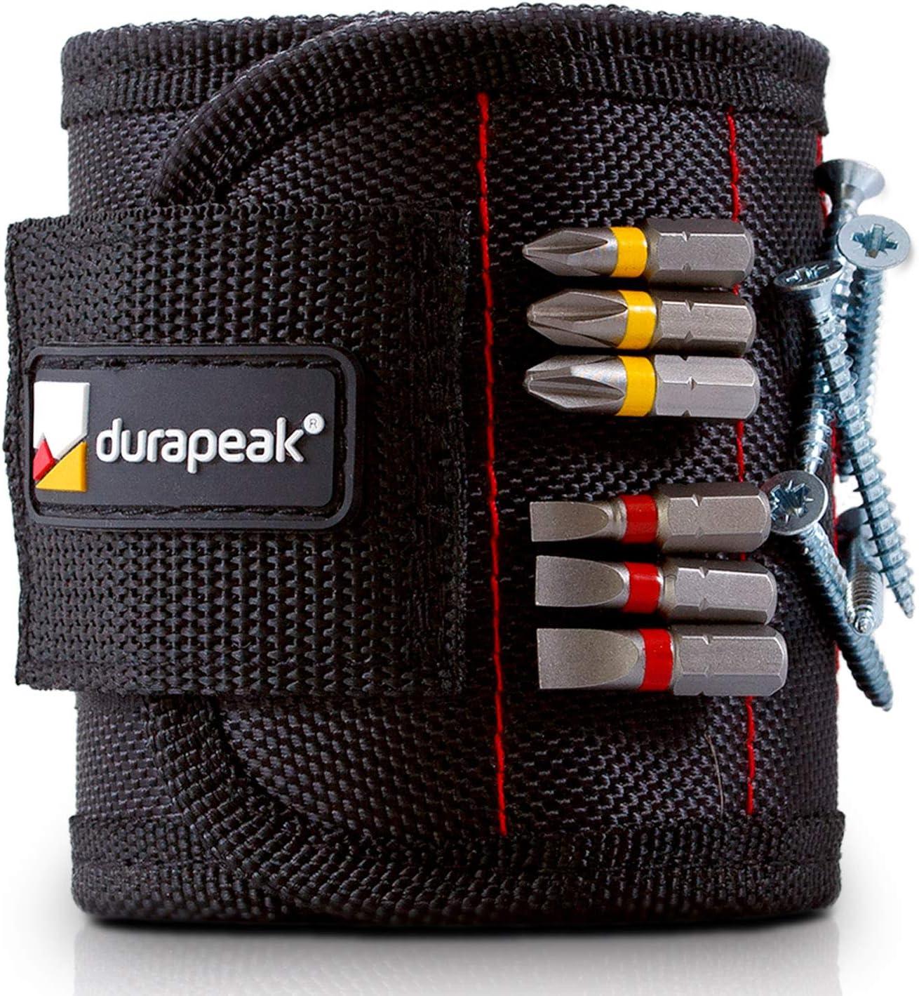 /Haga Su trabajo eficiente y r/ápido/ /Ideal para tornillos y herramientas Negro durapeak profesional pulsera magn/ética para herramientas/