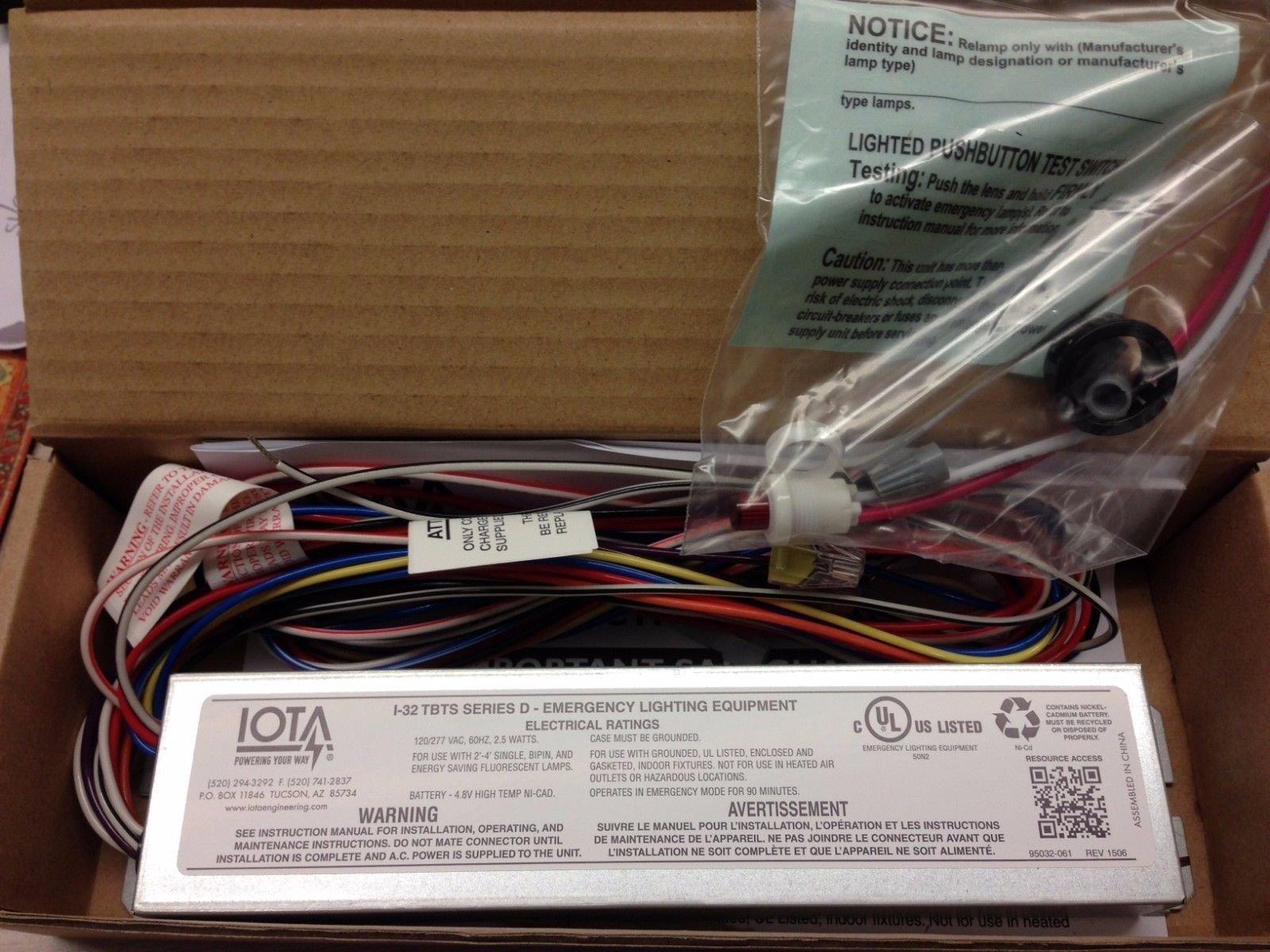 2 Pcs Iota I-32 Tbts Series D 120/277 V Emergency Ballast I32Tbts I-32-Tbts