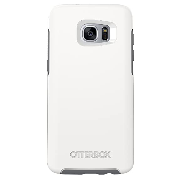 competitive price 5f594 c1d74 OtterBox SYMMETRY SERIES Case for Samsung Galaxy S7 Edge - Retail Packaging  - GLACIER (WHITE/GUNMETAL GREY)
