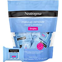 Neutrogena Makeup Remover Facial Cleansing Towelette Singles, Daily Face Wipes to Remove Dirt, Oil, Makeup & Waterproof…