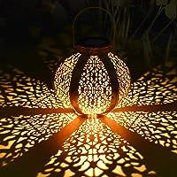 Farol Solar para Exteriores, Tencoz Luces de Linterna Solar, Lámpara Colgante LED Luz…