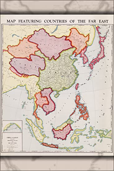Amazon 16x24 poster map of china japan philippines 1932 16x24 poster map of china japan philippines 1932 gumiabroncs Choice Image