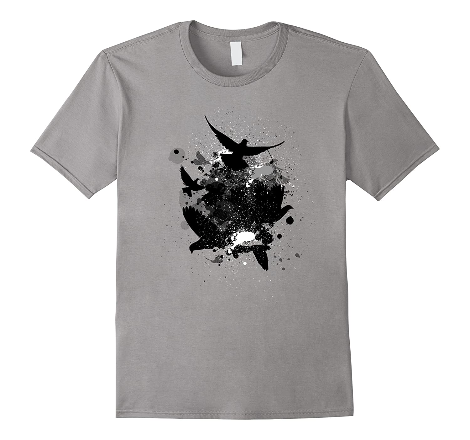 Abstract Black Birds Shirt Gift For Bird And Art Lovers-TH