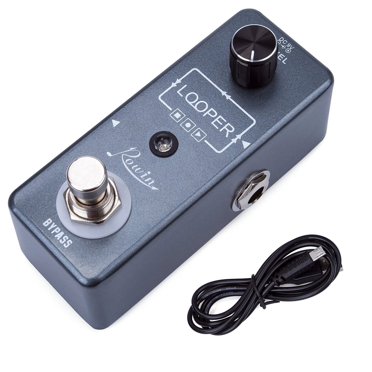 Rowin Guitar Looper Effects Pedal Unlimited Overdubs 10 Minutes of Looping with USB Cable