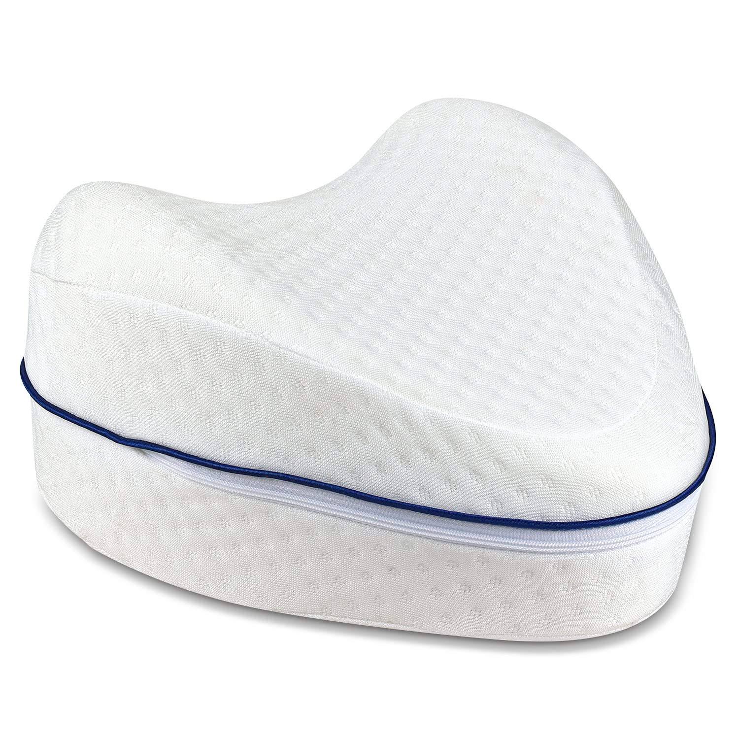 Leg Pillow, Knee Memory Foam Side Pillow, Knee Orthopedic Pillow Joint Pain and Sciatica Relief, Pregnancy Leg Position Pillow Provides Support & Comfort for Side Sleeping