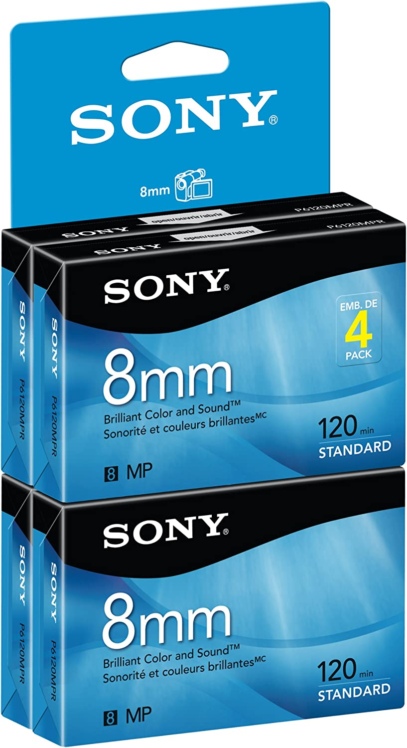 Sony 8mm 120-minute 4 pack (Discontinued by Manufacturer)
