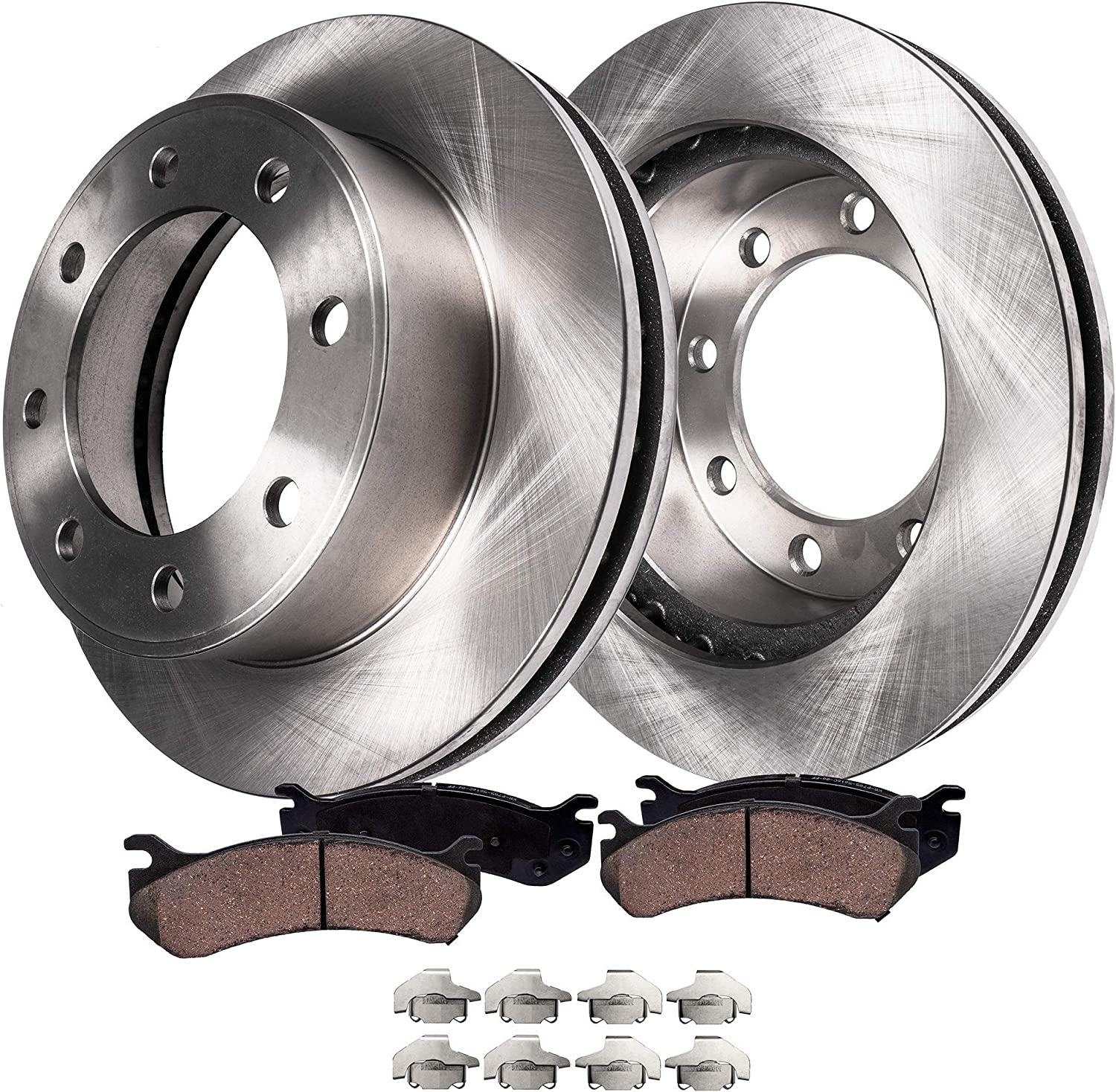 Rotors Metallic Pads F OE Replacement 2005 2006 Ford F250 Super Duty 4WD