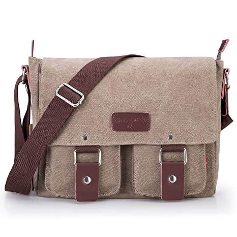 808019062fb Image Unavailable. Image not available for. Color  Bienna Vintage Canvas  Messenger Bag ...
