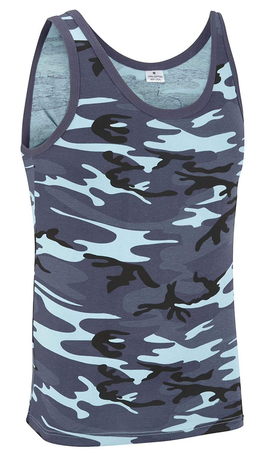 Camouflage Military Vest Top - Midnight Camouflage