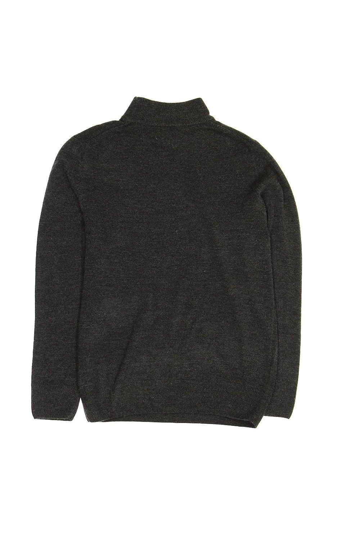 Raphael Mens Gray Heather Mock Neck Sweater Tricots St