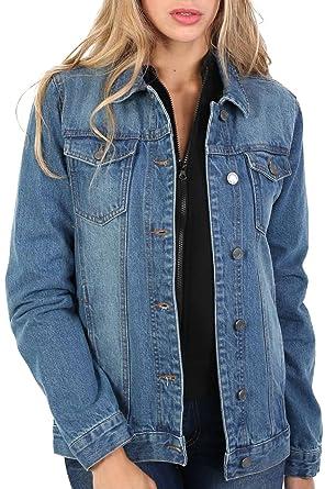 brand new 61ab9 45dbd Pilot® Boyfriend-Style Jeansjacke: Amazon.de: Bekleidung