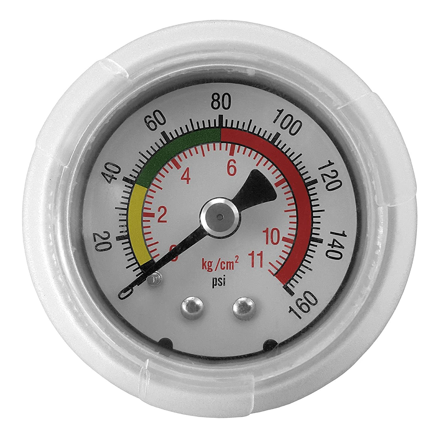 Express Water Quick Connect Water Pressure Gauge 160 PSI Parts Fittings Connection for Water Filters / Reverse Osmosis RO Systems PRTG1402