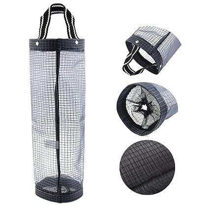 Dispensador de bolsas de plástico para guardar bolsas de basura de malla, organizador de bolsas