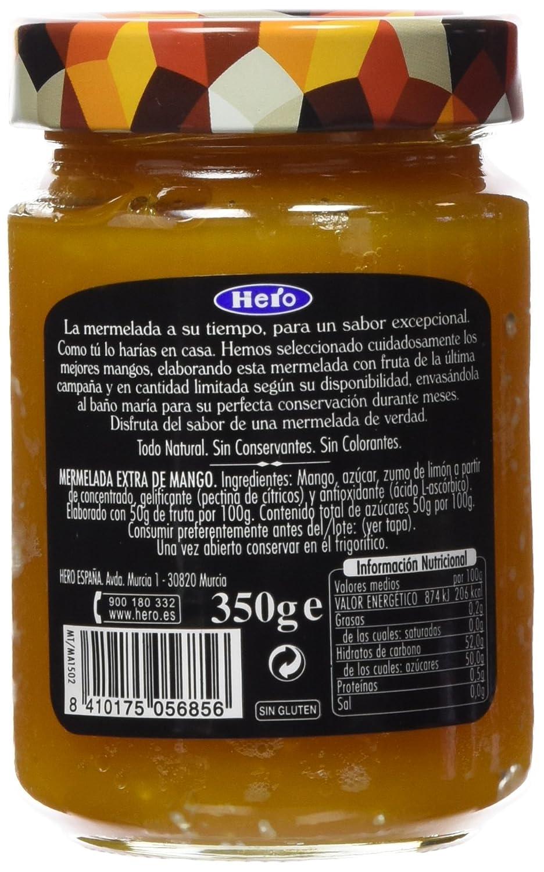 Hero Temporada - Hero Mermelada Temporada Mango 350 g - [pack de 3]: Amazon.es: Alimentación y bebidas