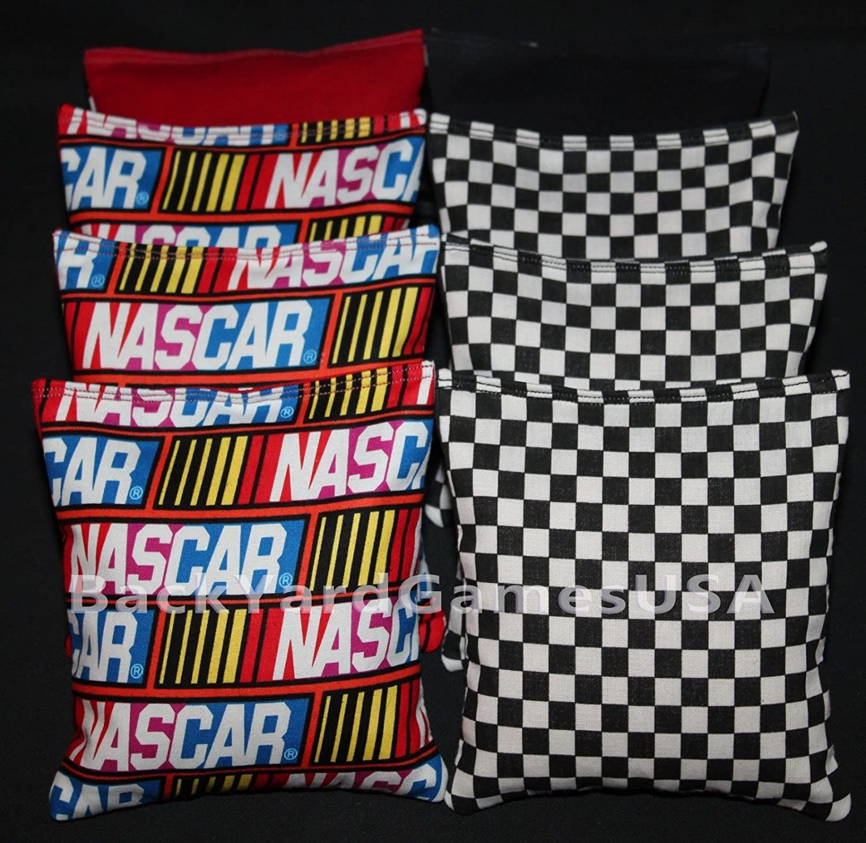 新品本物 backyardgamesusa Nascar Racing Cornhole BeanバッグRace BeanバッグRace Car Checkered Cornhole Flag Baggo Flag Toss Holeshot新しい B07CW18R3F, 絵画壁飾り 風景専門店あゆわら:651fe5a1 --- arianechie.dominiotemporario.com