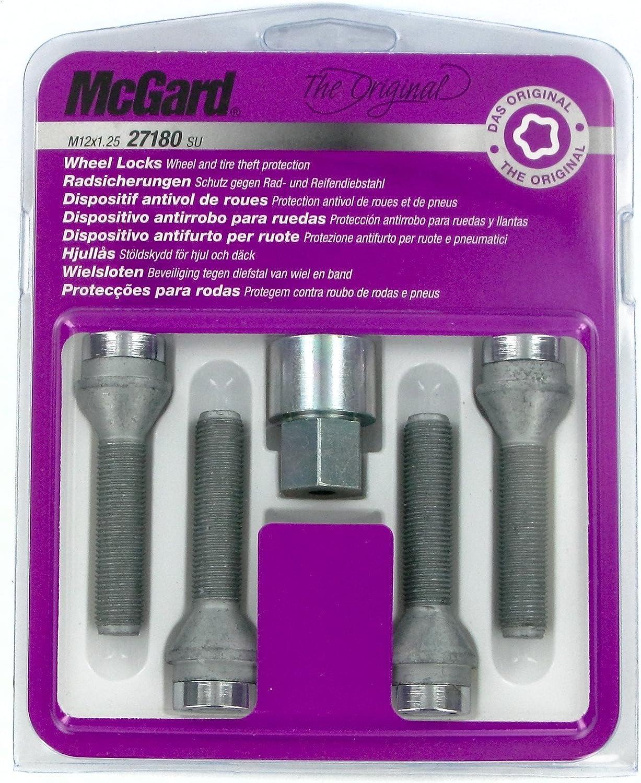 McGard 27180 SL M12 X 1,25 Embase Conique Standard Boulons Antivol SU