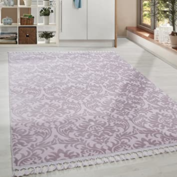 Amazon De Hochwertiger Acryl Teppich In Barock Stil Mit Ornament