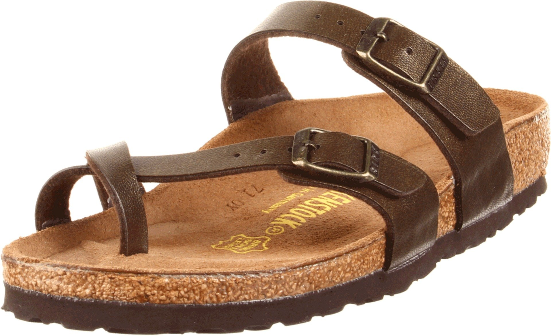 Birkenstock Women's Mayari Gold Brown Birko-Flor Sandal 40 N (US Women's 9-9.5)
