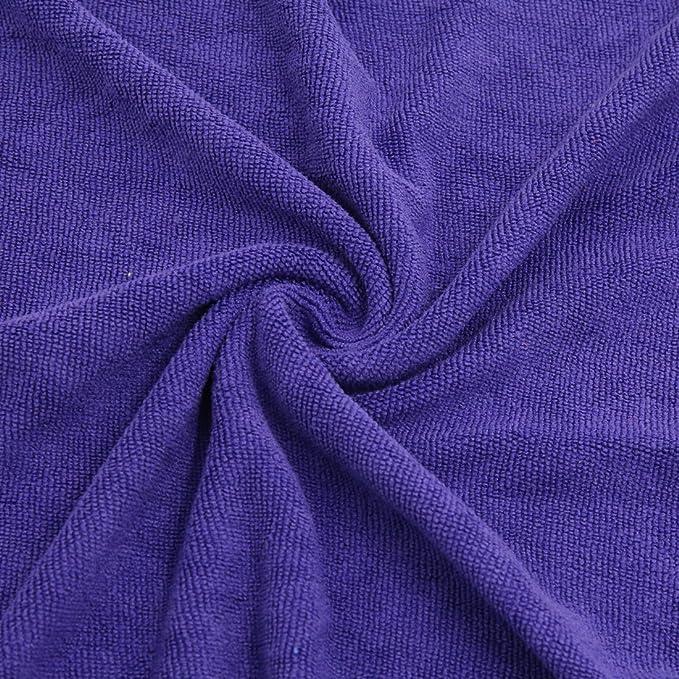 Amazon.com: eDealMax 5pcs 40 x 40 cm 300GSM microfibra Inicio Alquiler de toallas de secado el Lavado de ropa púrpura: Automotive