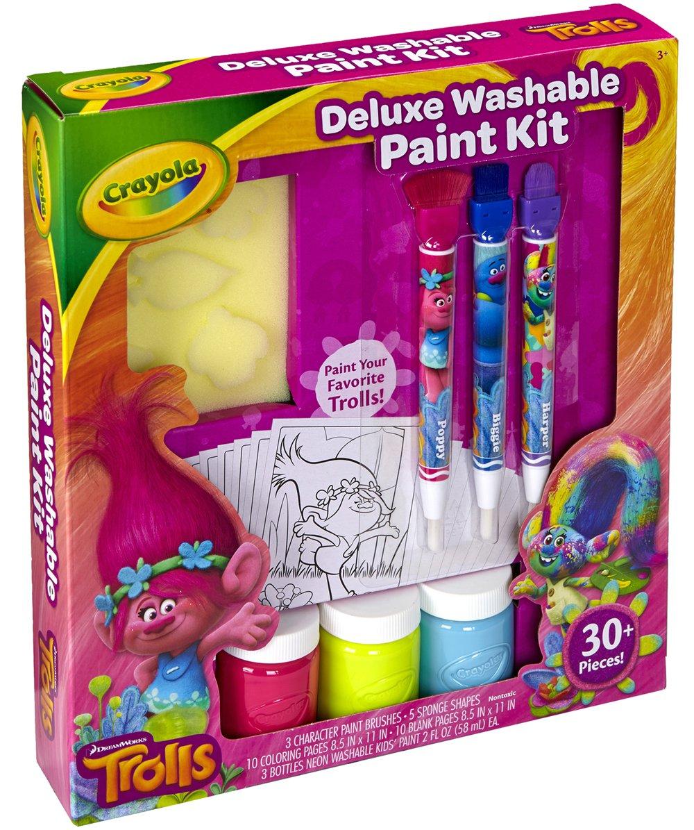 amazoncom crayola trolls deluxe washable paint kit toys games