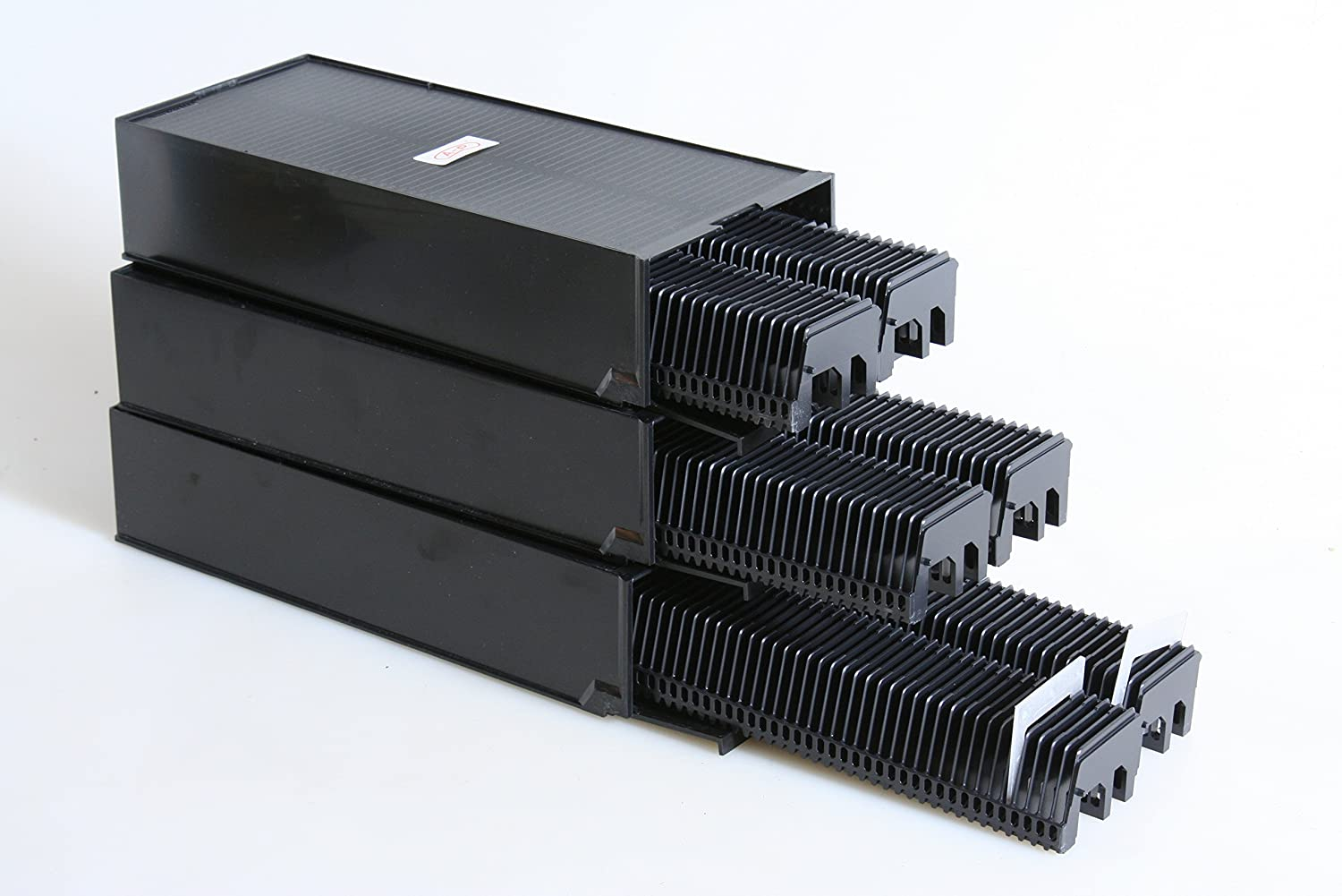 Straight Slide Trays in Cases For Leica Projector /& others hold 50 slides set//6 trays