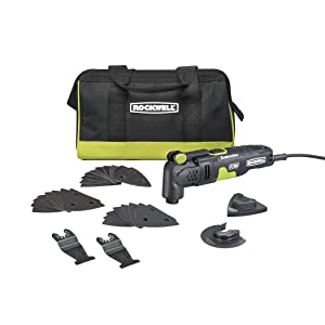 Rockwell RK5132K 3.5 Amp Sonicrafter F30 Oscillating Multi-Tool with 32 Accessories and Carry Bag