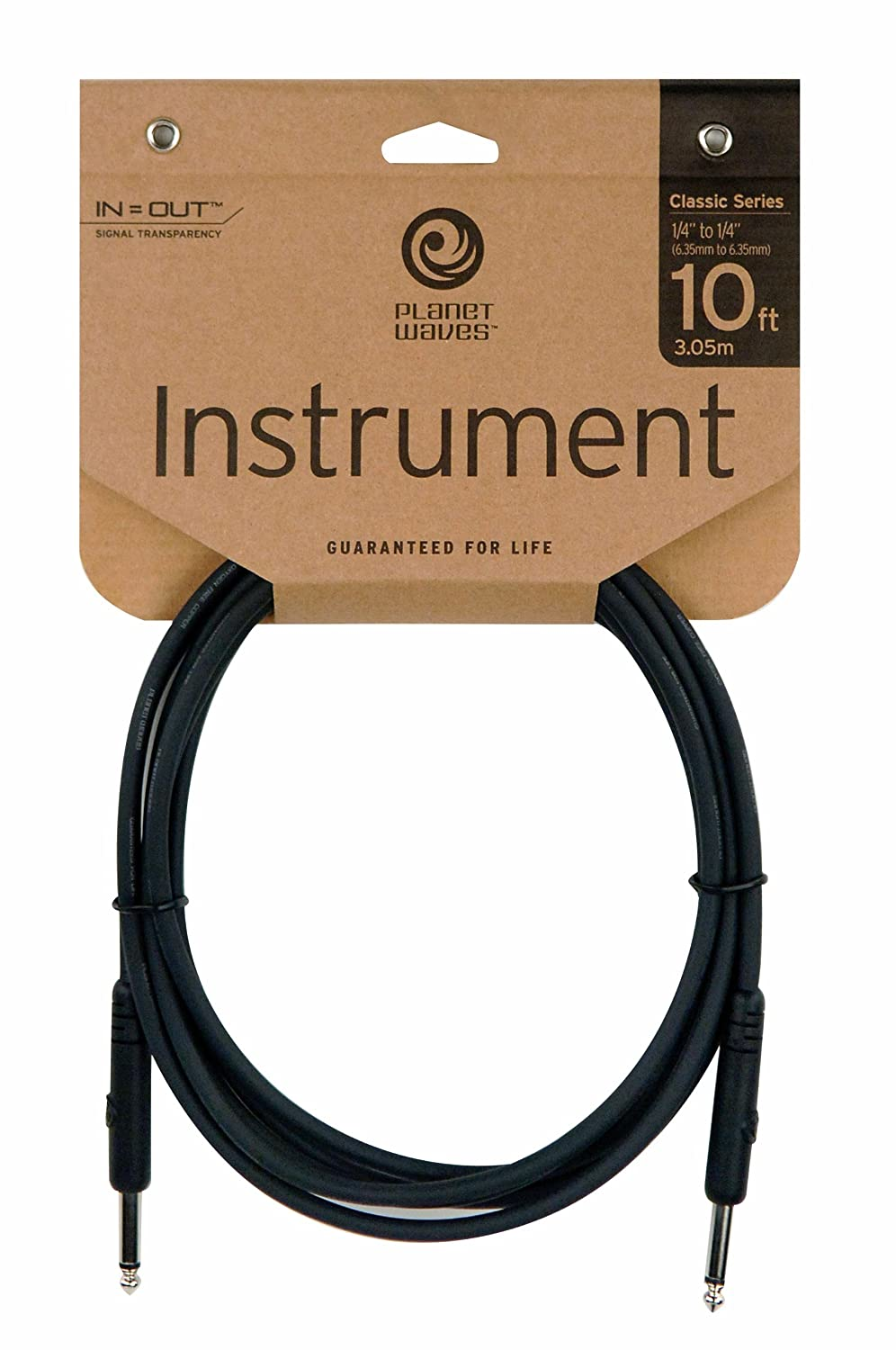 Amazon.com: Planet Waves Classic Series Instrument Cable, 10 feet ...