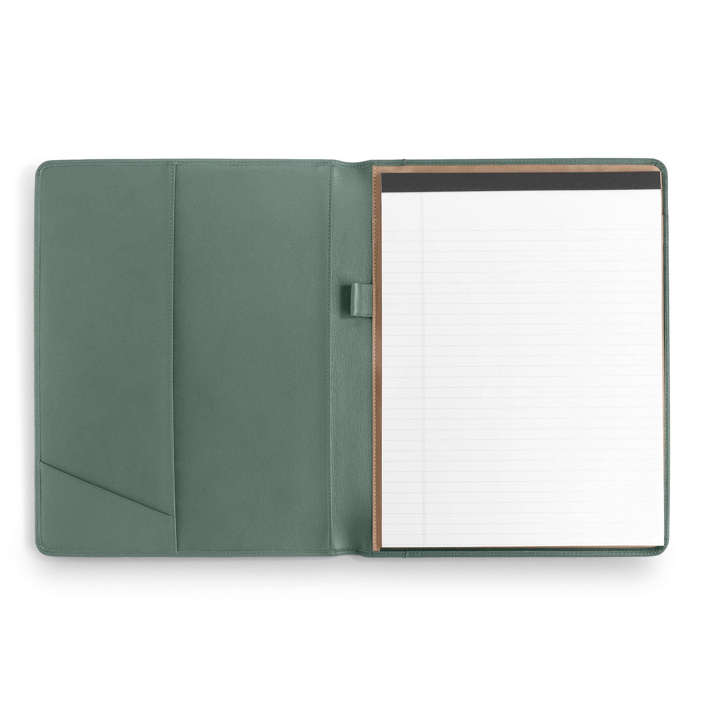 Leatherlogy Standard Padfolio with Pen Loop - Full Grain Leather Leather - Dusk (blue)