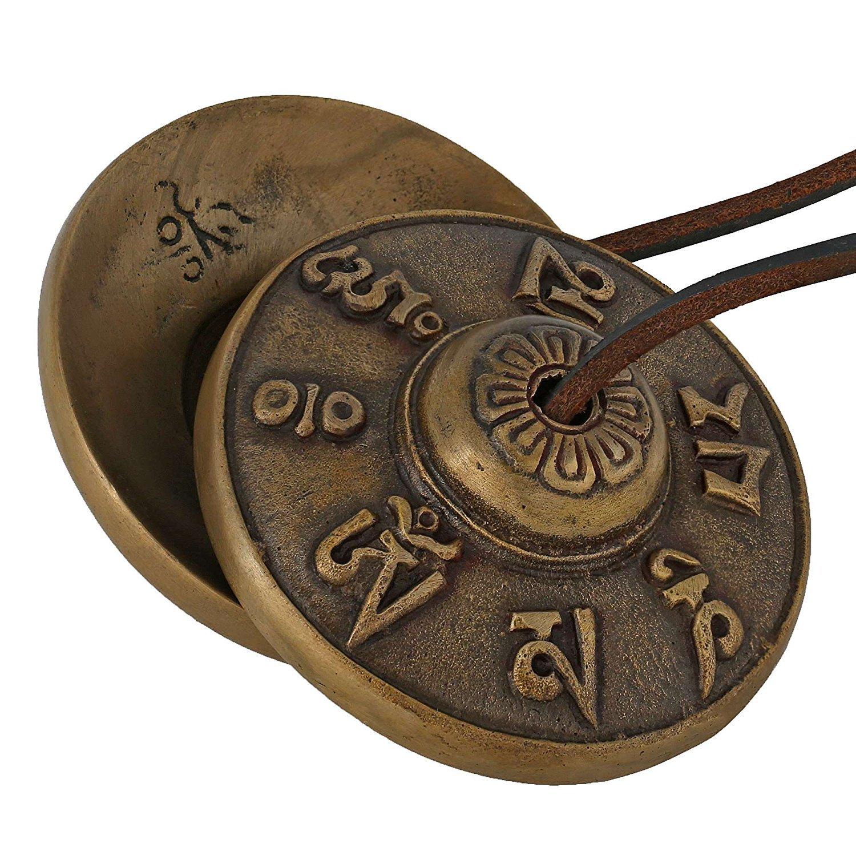 purpledip budista Tingsha campana tibetana platillos, Chimes, manjeere Meditación Oración instrumento musical (10679)