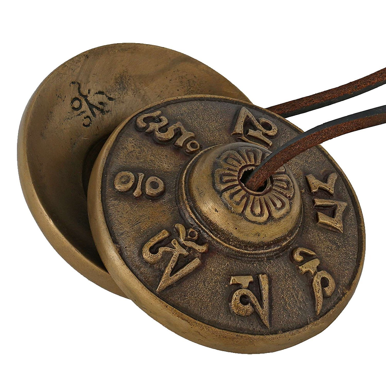 Purpledip Buddhist Tingsha Bell Tibetan Cymbals, Chimes, Manjeere Meditation Prayer Musical Instrument (10679) by Purpledip
