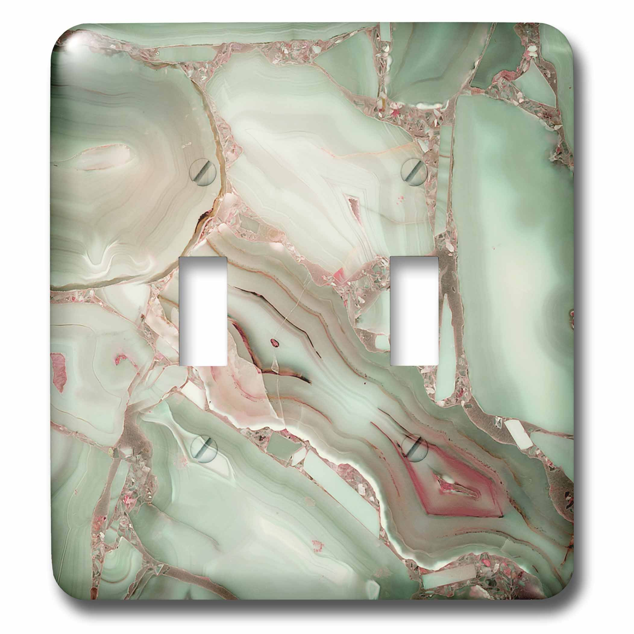 3dRose LSP_275089_2 Image of Luxury Light Green Marble Agate Gem Mineral Malachite Quartz Toggle Switch, Mixed