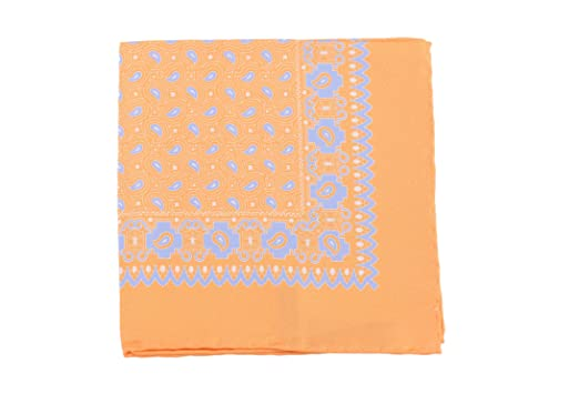 Cesare Attolini Pink Paisley Pocket Square Handmade In Italy
