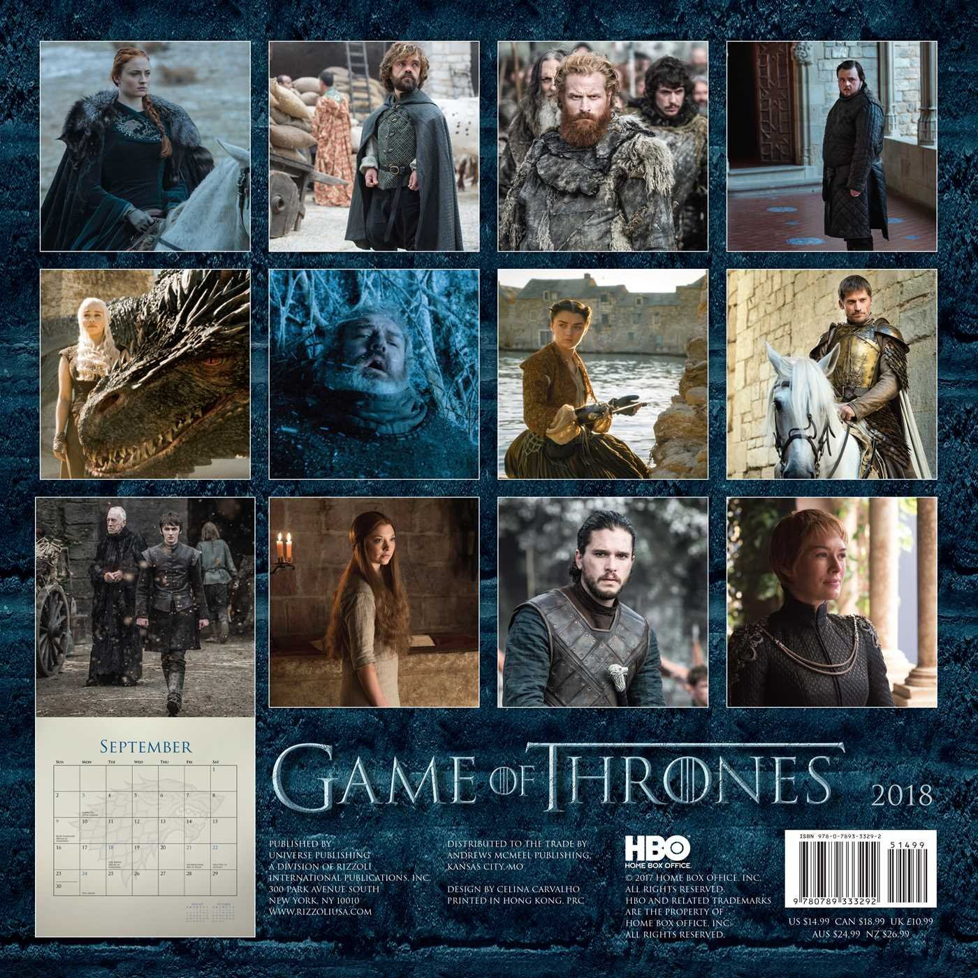 Buy Game of Thrones 2018 Wall Calendar Book Online at Low Prices