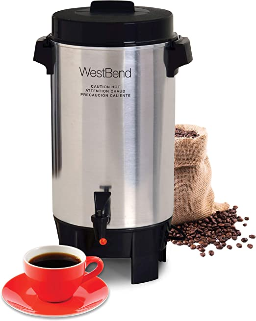 Amazon.com: West Bend 58030 - Cafetera de aluminio altamente ...