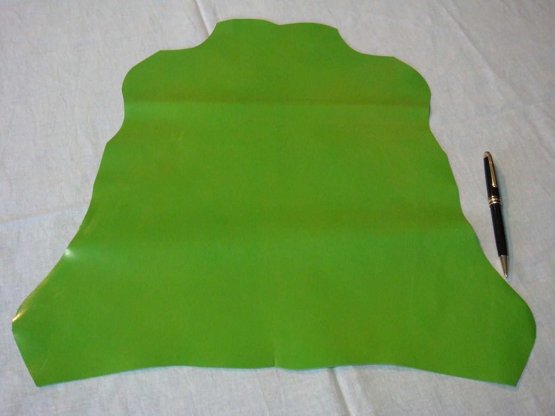 Genuine Luxury Glac/é Goatskin Leather 1 Hide Tourmaline Green XL 1.9 to 2.5 Square FEET FERUS