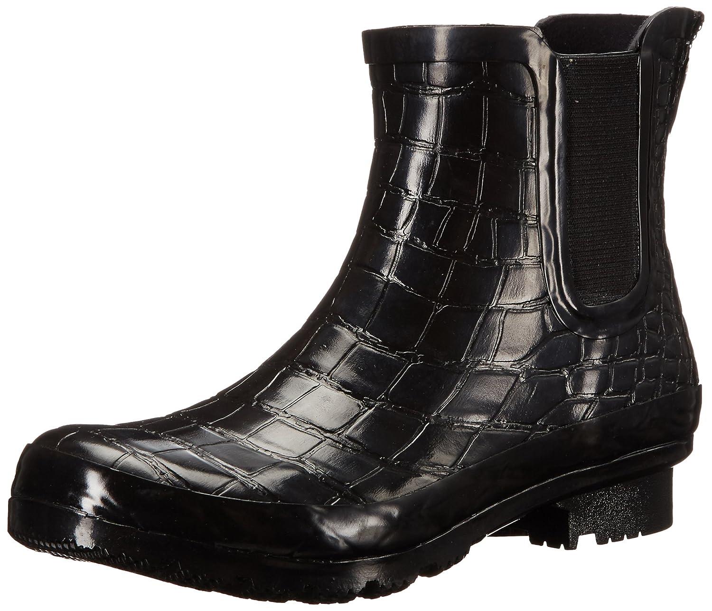 Roma Women's Chelsea Rain Boots B01L2WO63G 7 B(M) US|Black Crocodile