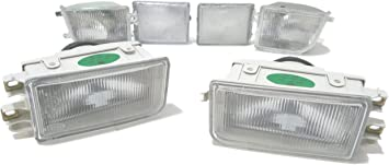 Clear Front Bumper Turn Signal Light Lamps Pair For 1995-1996 Toyota Camry