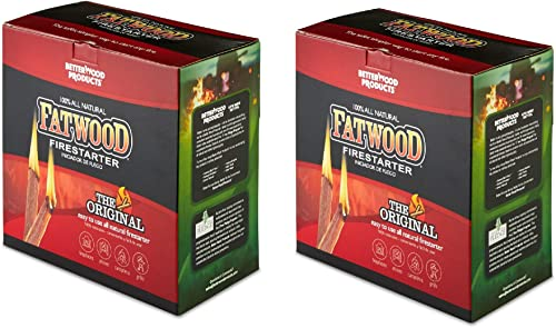 Betterwood Products 9987 Fatwood Natural Pine 5 Pound Wood Firestarter 2 Pack
