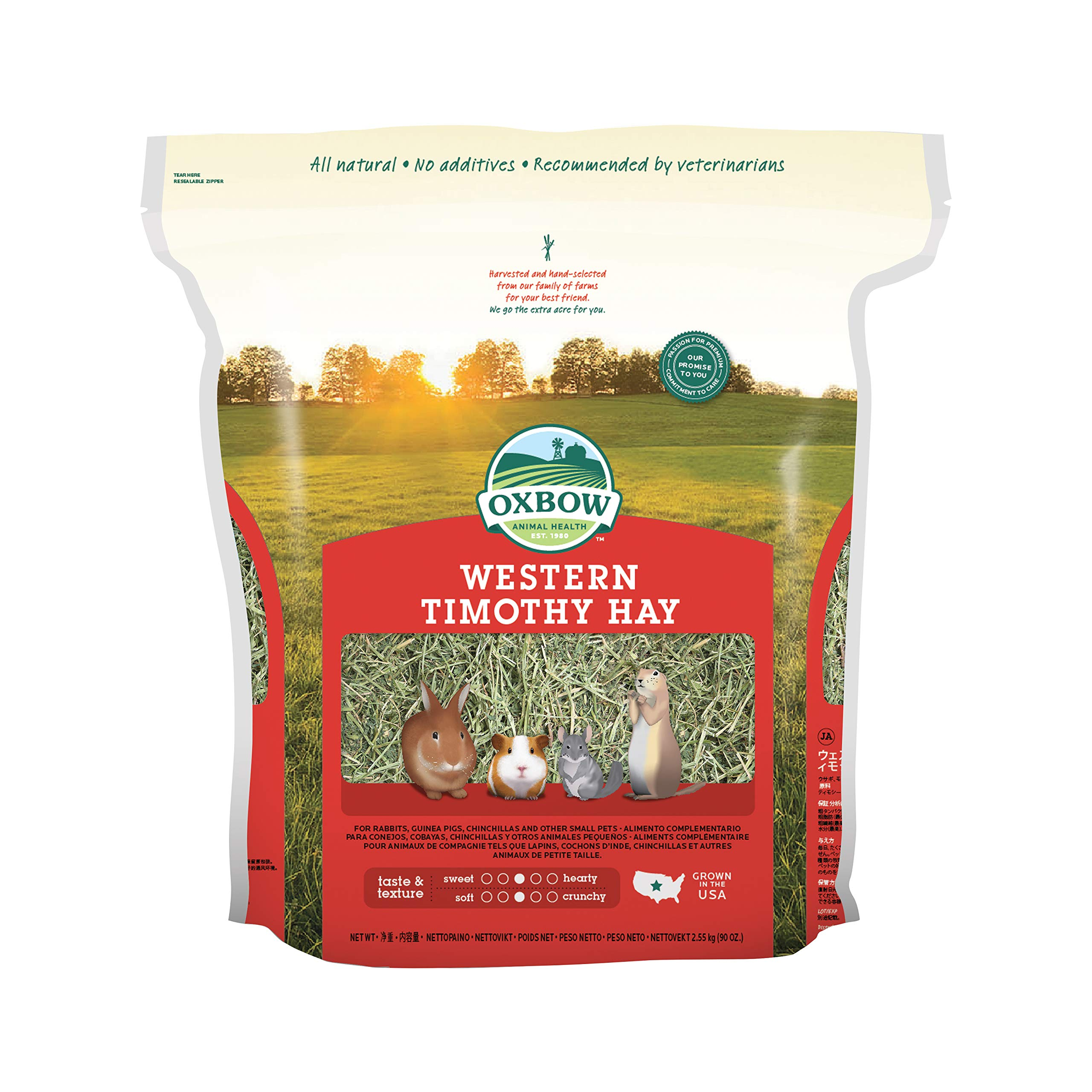 Oxbow Animal Health Western Timothy Hay For Pets, 90-Ounce by Oxbow Animal Health