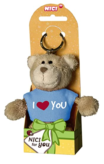 Amazon.com: NICI oso de peluche con playera I Love You ...