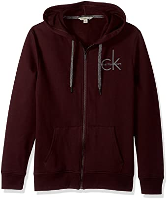 77e2215d3 Calvin Klein Jeans Men's Full Zip Ck Logo Hoodie at Amazon Men's Clothing  store: